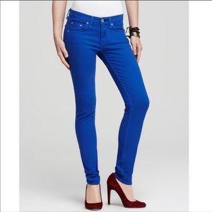 Rag & Bone The Legging Royal Blue Skinny Jeans